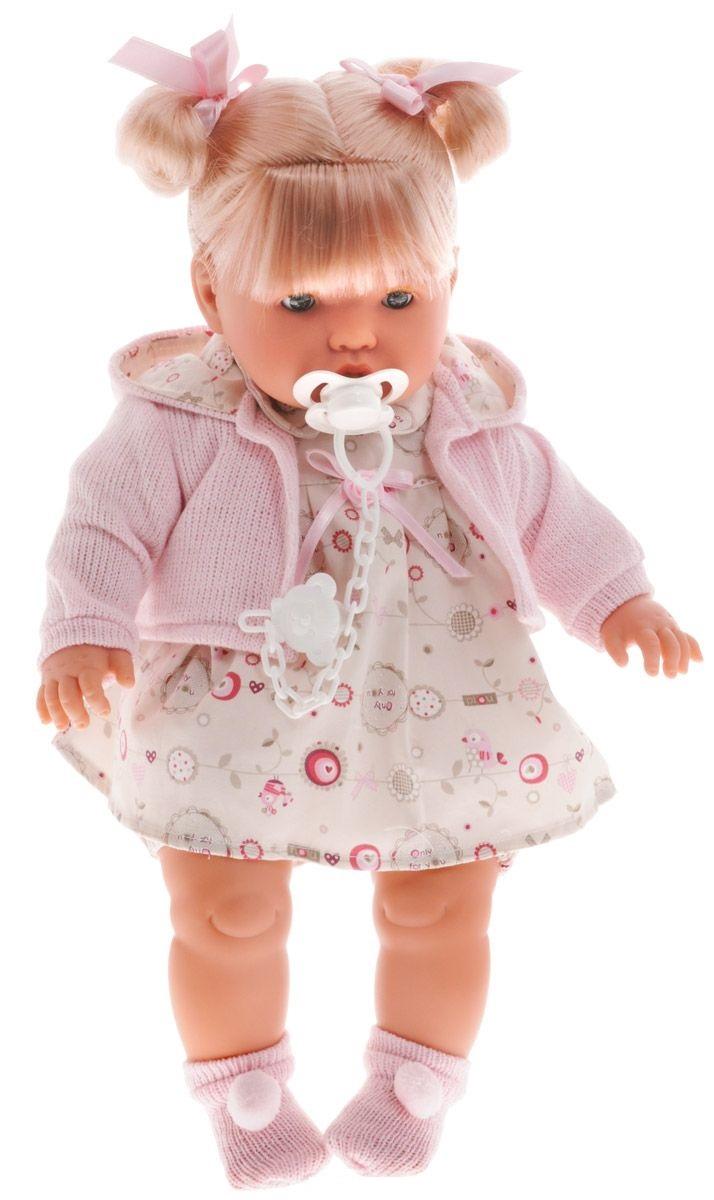 Кукла Бэбэ в розовой кофточке, 48 см.Испанские куклы Llorens Juan, S.L.<br>Кукла Бэбэ в розовой кофточке, 48 см.<br>