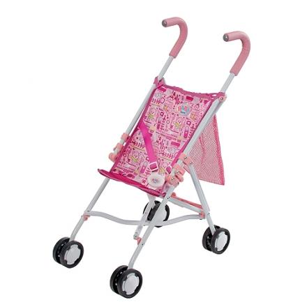 Игрушечная коляска-трость BABY born с сеткой - Коляски для кукол, артикул: 97341