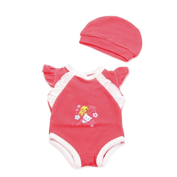Комплект одежды для куклы Карапуз 40-42 см - Боди с шапочкойОдежда для кукол<br>Комплект одежды для куклы Карапуз 40-42 см - Боди с шапочкой<br>