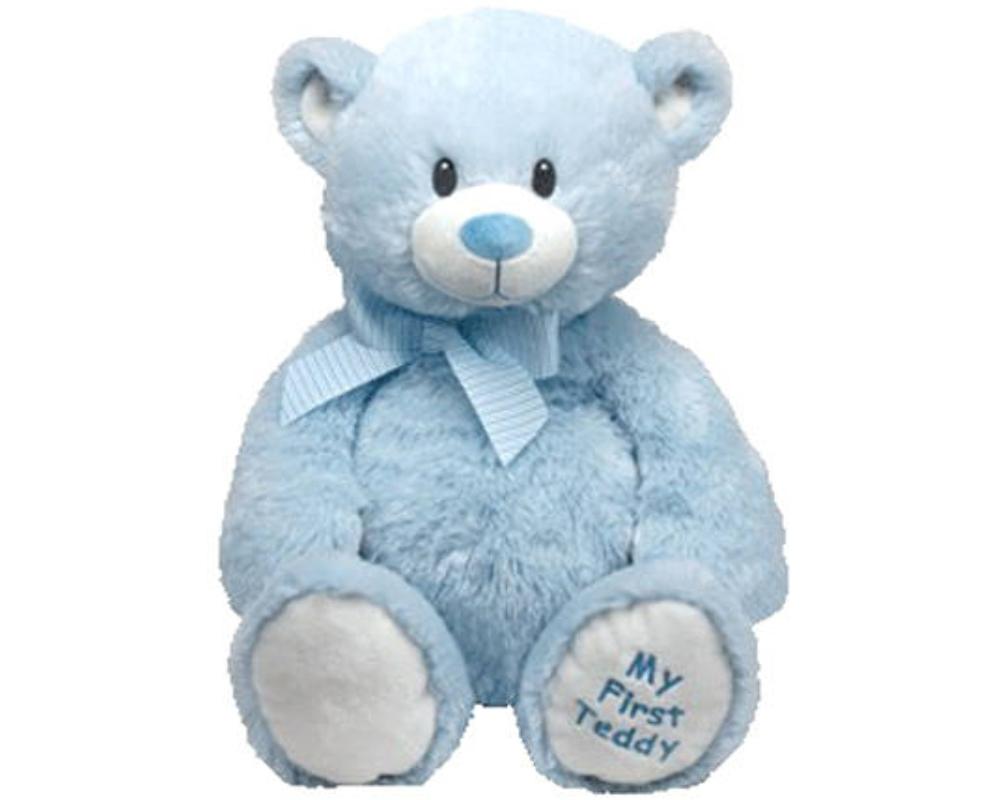 Купить Мягкая игрушка Classic – Медвежонок My First Teddy, голубой, 20 см, TY