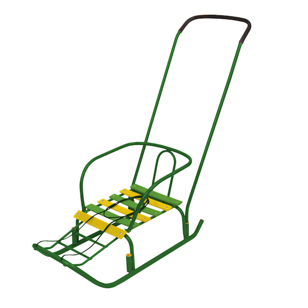 Детские санки – Ветерок 3, зеленыеСанки и сани-коляски<br>Детские санки – Ветерок 3, зеленые<br>