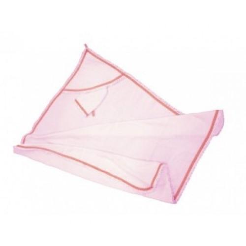 Пеленка-полотенце Премиум в комплекте с варежкой, размер 96 х 96 см., розовая - Ванная комната и гигиена, артикул: 168756
