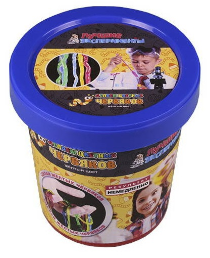 Купить Микро-набор для экспериментов - Делаем цветных червяков - Желтый, Научные технологии