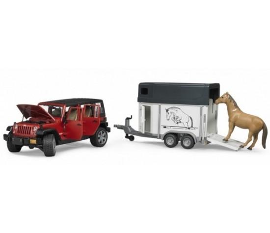 Внедорожник Jeep Wrangler Unlimited Rubicon c прицепом-коневозкойФургоны и машины<br>Внедорожник Jeep Wrangler Unlimited Rubicon c прицепом-коневозкой<br>