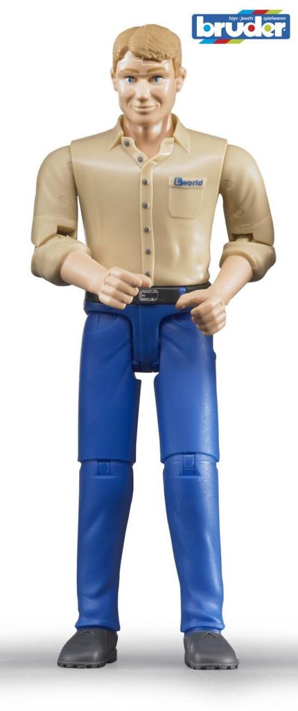Bruder. Фигурка мужчины в голубых джинсахАксессуары<br>Bruder. Фигурка мужчины в голубых джинсах<br>