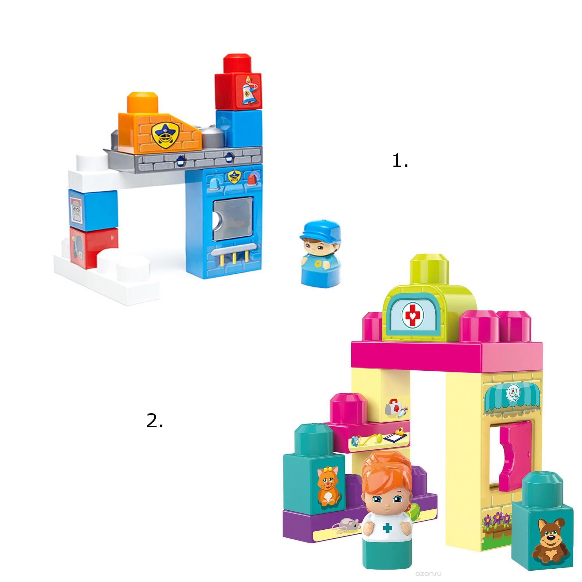 Маленькие игровые наборы – конструкторы, 2 видаКонструкторы Mega Bloks<br>Маленькие игровые наборы – конструкторы, 2 вида<br>