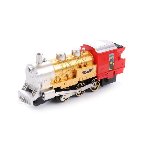 Железная дорога на батарейках, свет и звук, длина полотна 282 см., с дымом Play Smart