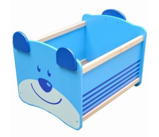 Ящик для хранения игрушек «Медведь», синийКорзины для игрушек<br>Ящик для хранения игрушек «Медведь», синий<br>