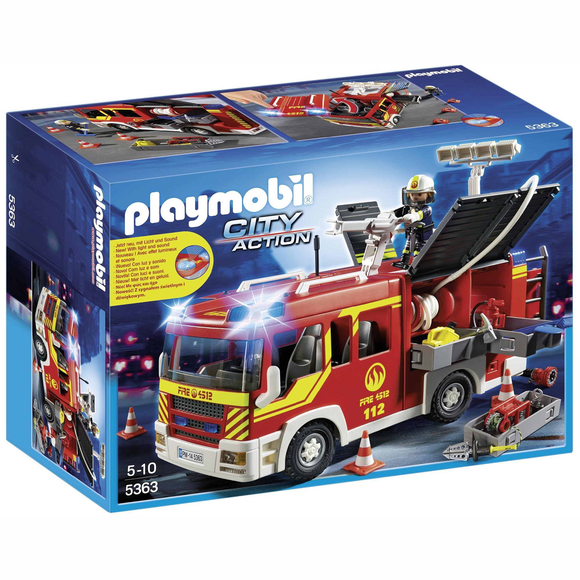 Игровой набор - Пожарная служба: Пожарная машина, со светом и звуком от Toyway