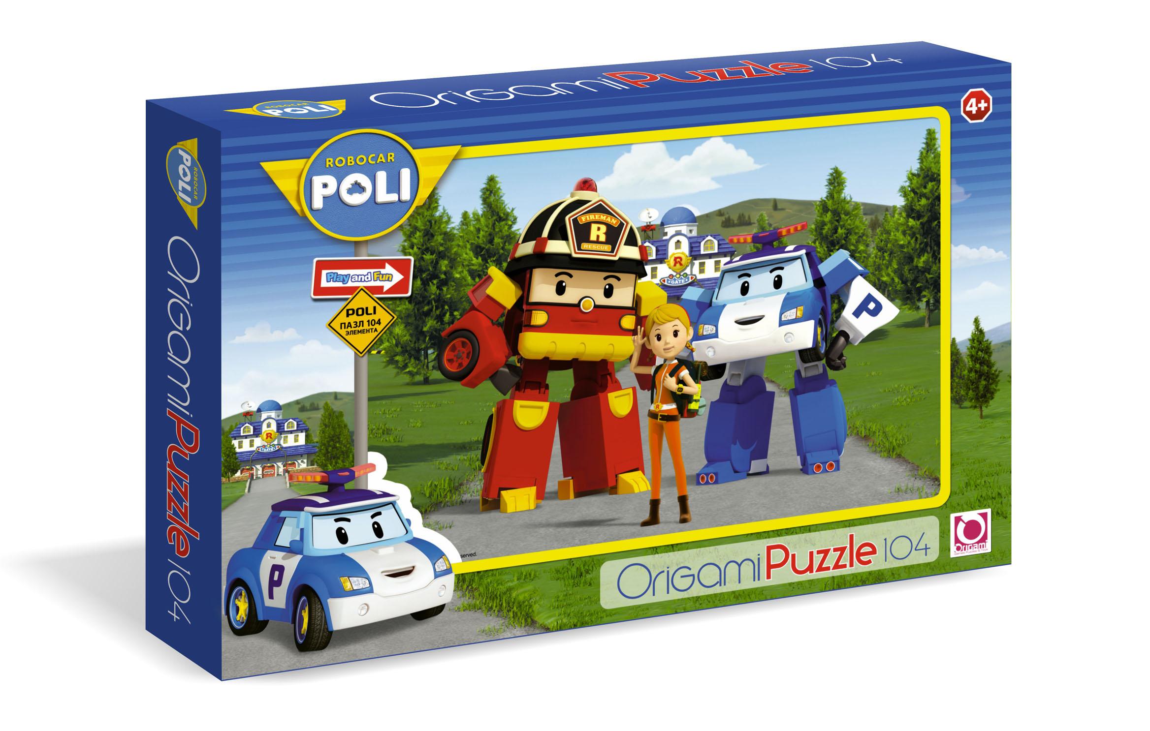 Паззл Robocar Poli 104 элементаRobocar Poli. Робокар Поли и его друзья<br>Паззл Robocar Poli 104 элемента<br>