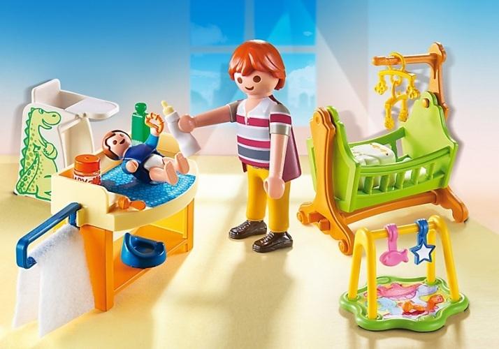 Купить Кукольный дом: Детская комната с люлькой, Playmobil