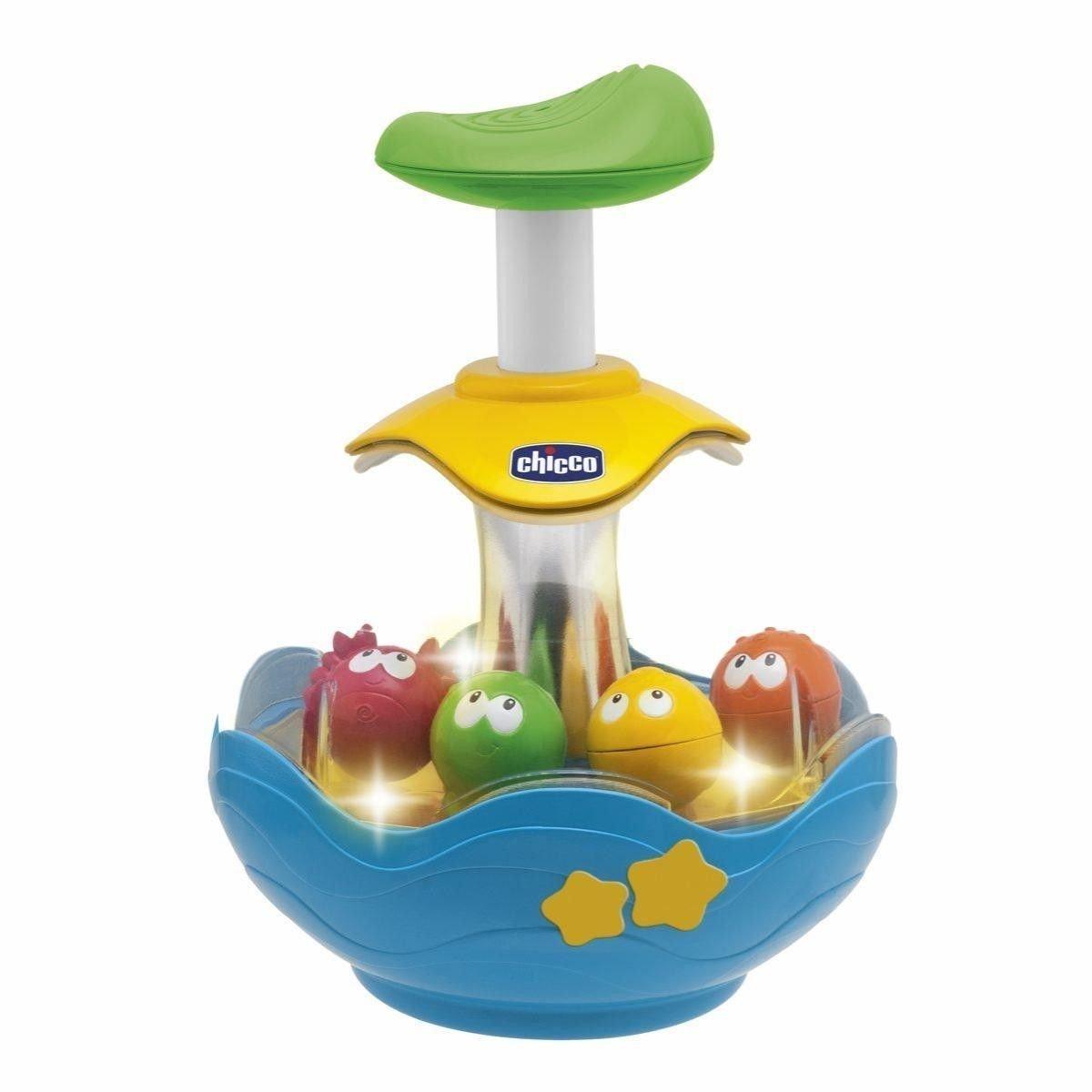 Купить Развивающая игрушка – Юла Aquarium, свет и звук, Chicco