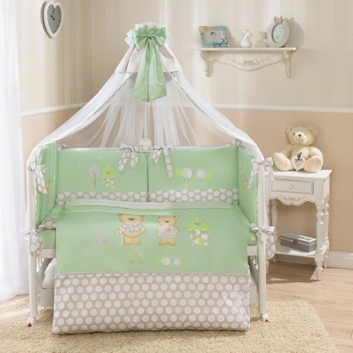 Комплект постельного белья Венеция, зеленыйДетское постельное белье<br>Комплект постельного белья Венеция, зеленый<br>