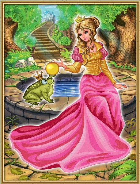Раскраска по номерам Царевна-лягушкаРаскраски по номерам Schipper<br>Раскраска по номерам Царевна-лягушка<br>