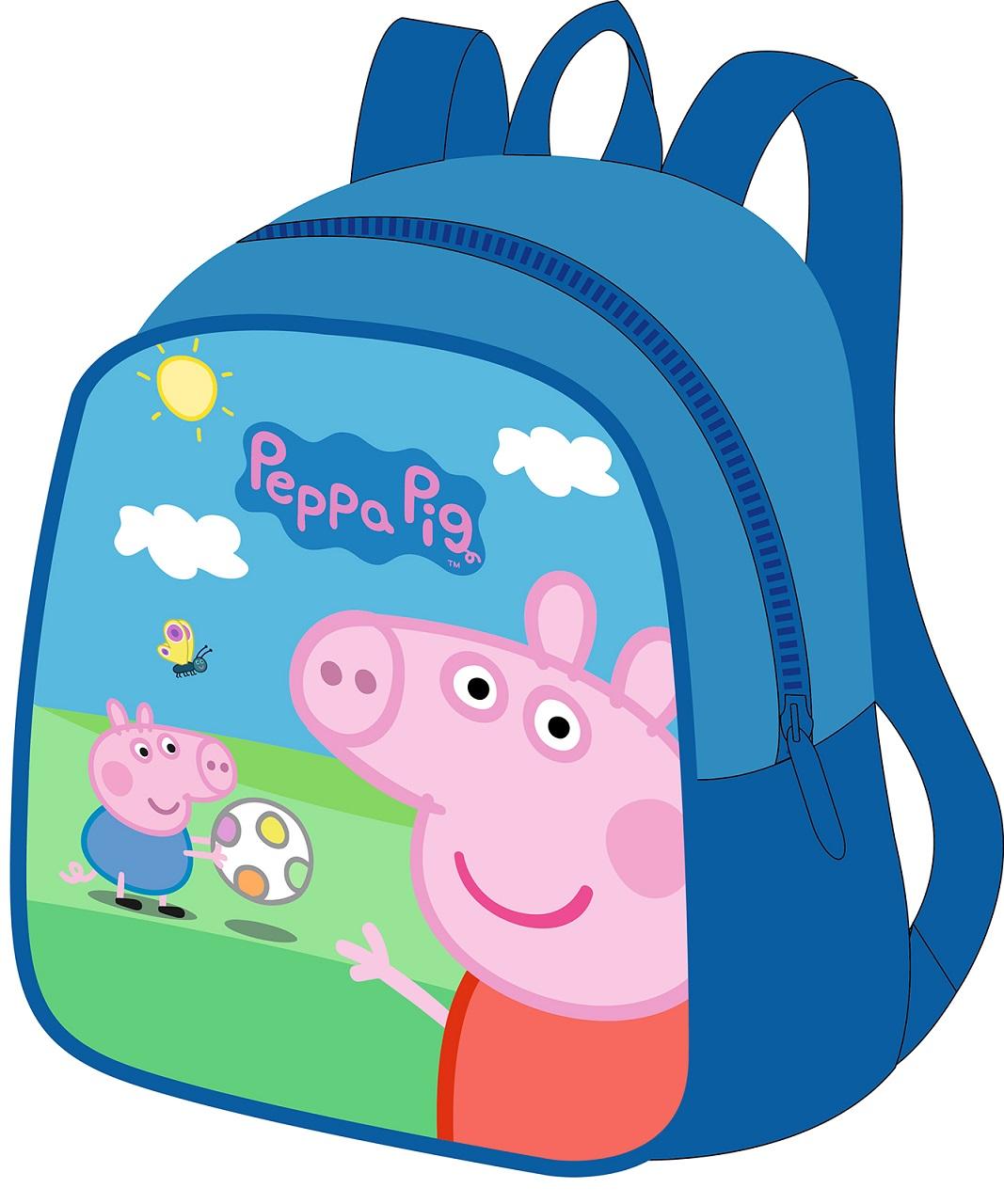Рюкзачок малый из серии Свинка Пеппа, декор – Пикник - Свинка Пеппа (Peppa Pig ), артикул: 161607