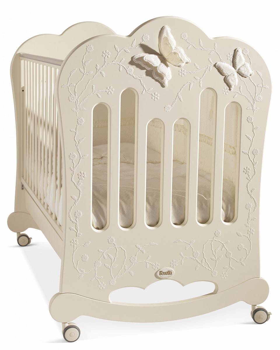 Детская кроватка Feretti Charme AVORIO/ IVORYДетские кровати и мягкая мебель<br>Детская кроватка Feretti Charme AVORIO/ IVORY<br>