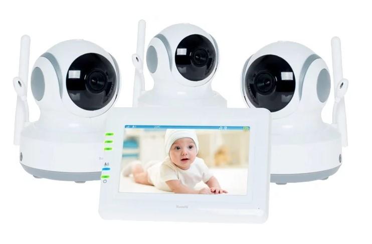 Видеоняня Ramili Baby RV900X3, 3 камеры