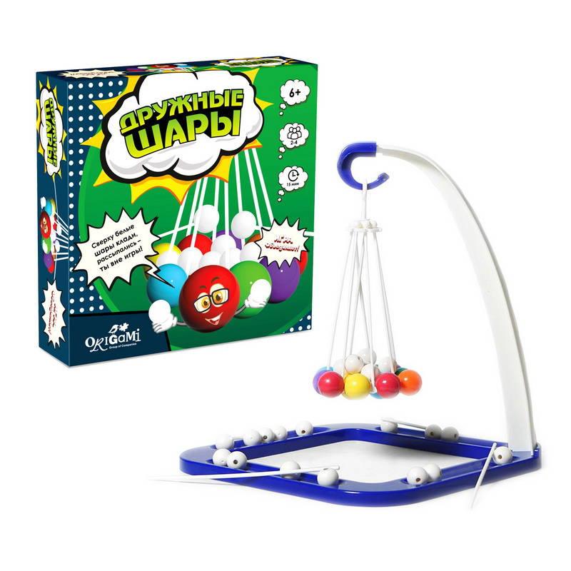 Купить Игра настольная - Дружные шары, 53 предмета, Origami