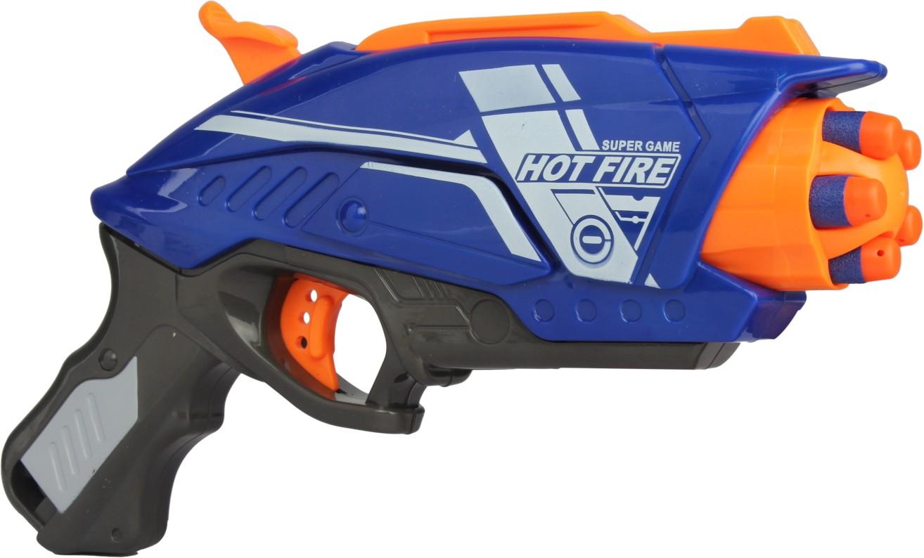 Механический бластер Blaze Storm - Hot Fireс 20 снарядамиАвтоматы, пистолеты, бластеры<br>Механический бластер Blaze Storm - Hot Fireс 20 снарядами<br>