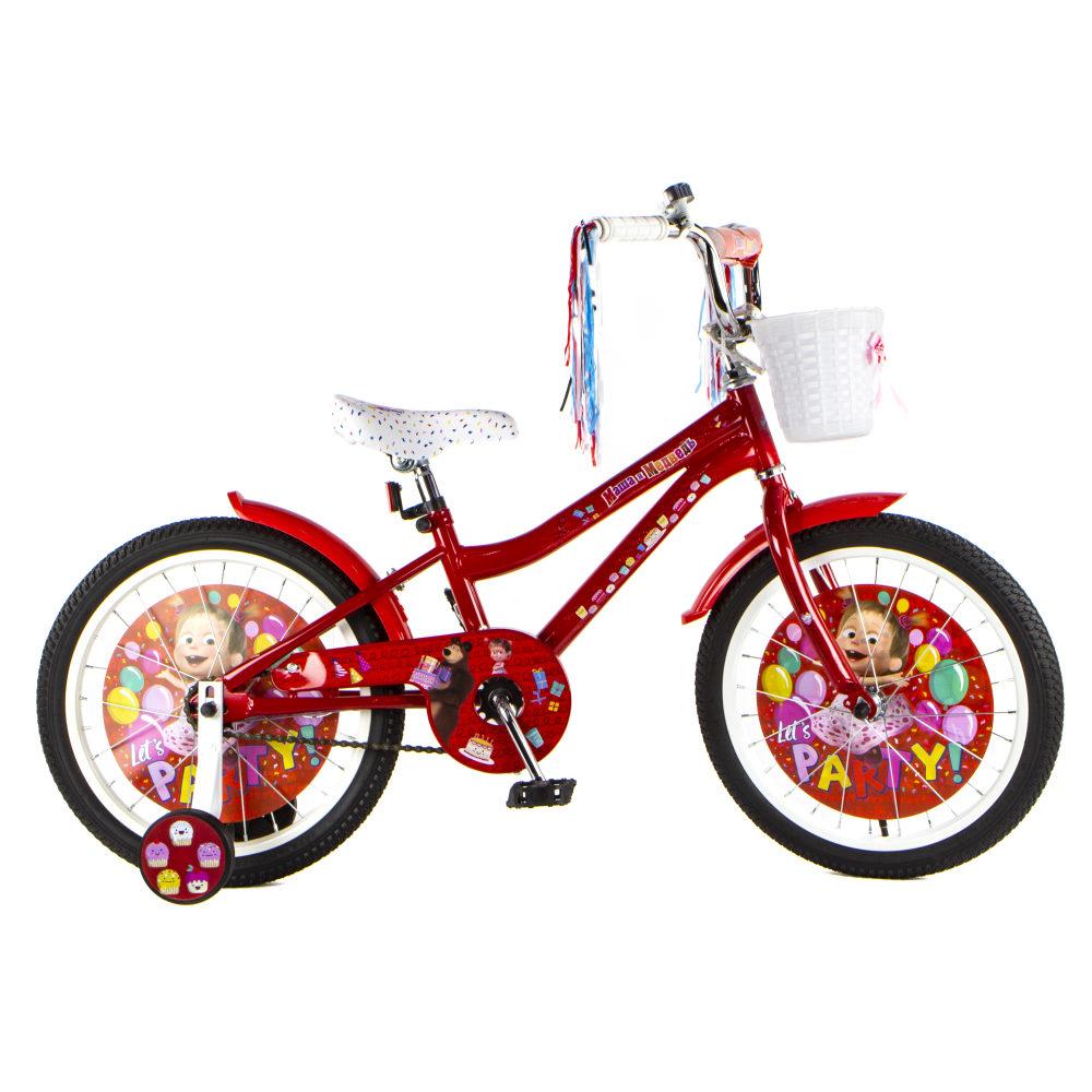 """Детский велосипед Маша и Медведь, колеса 18"""""""