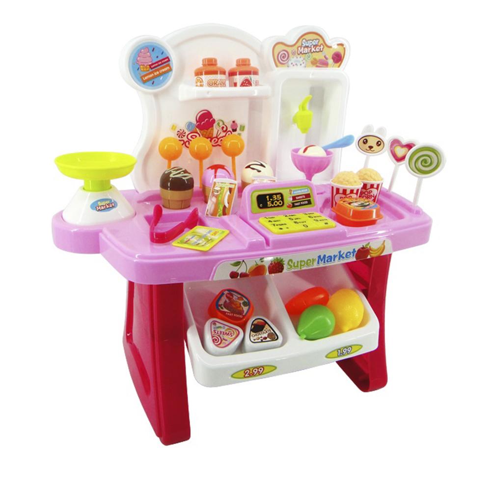 Набор Мини супермаркет - 34 предмета – со световыми и звуковыми эффектамиДетская игрушка Касса. Магазин. Супермаркет<br>Набор Мини супермаркет - 34 предмета – со световыми и звуковыми эффектами<br>