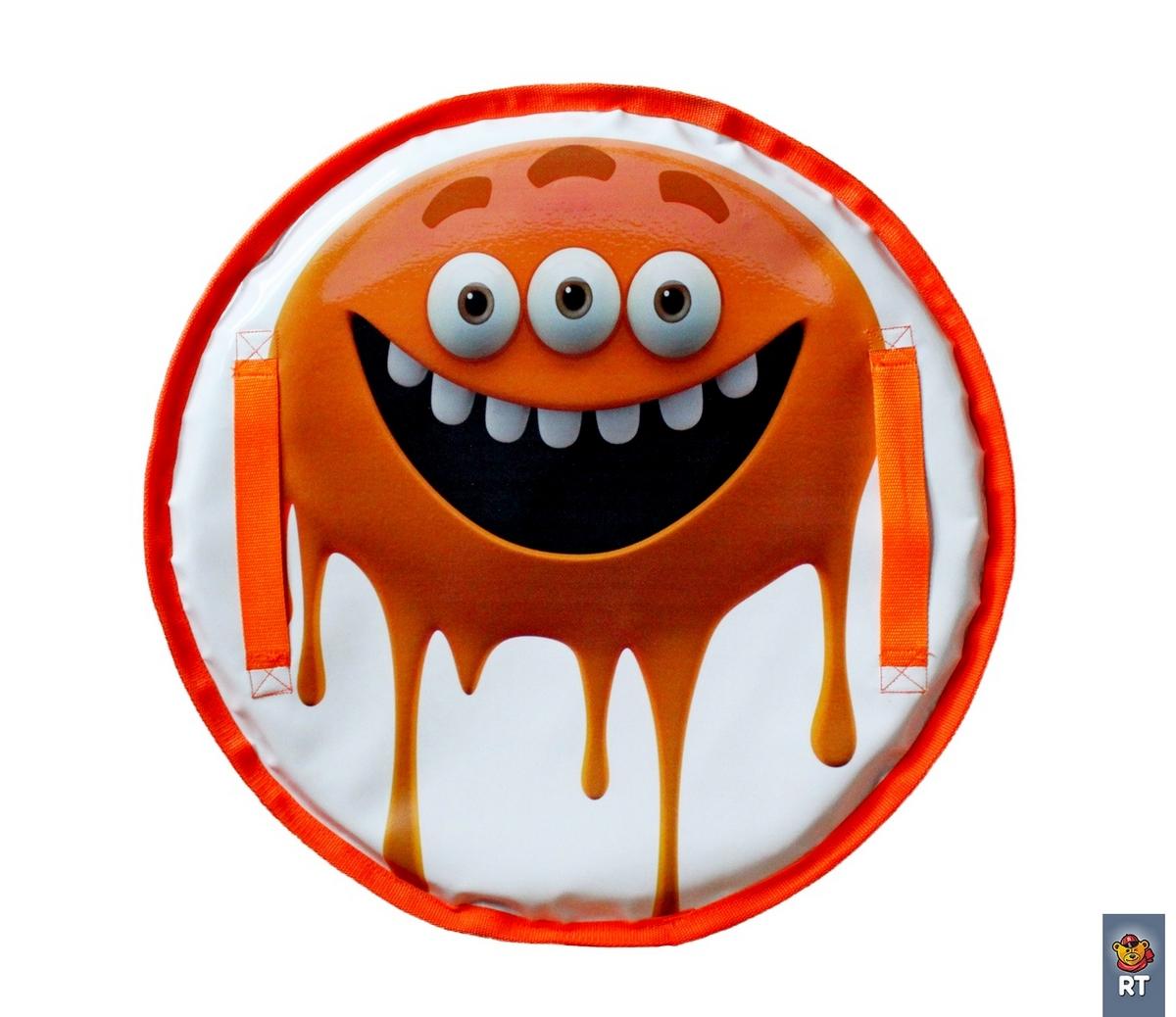 Ледянка – Монстрик, цвет: оранжевый, 50 см.Ватрушки и ледянки<br>Ледянка – Монстрик, цвет: оранжевый, 50 см.<br>