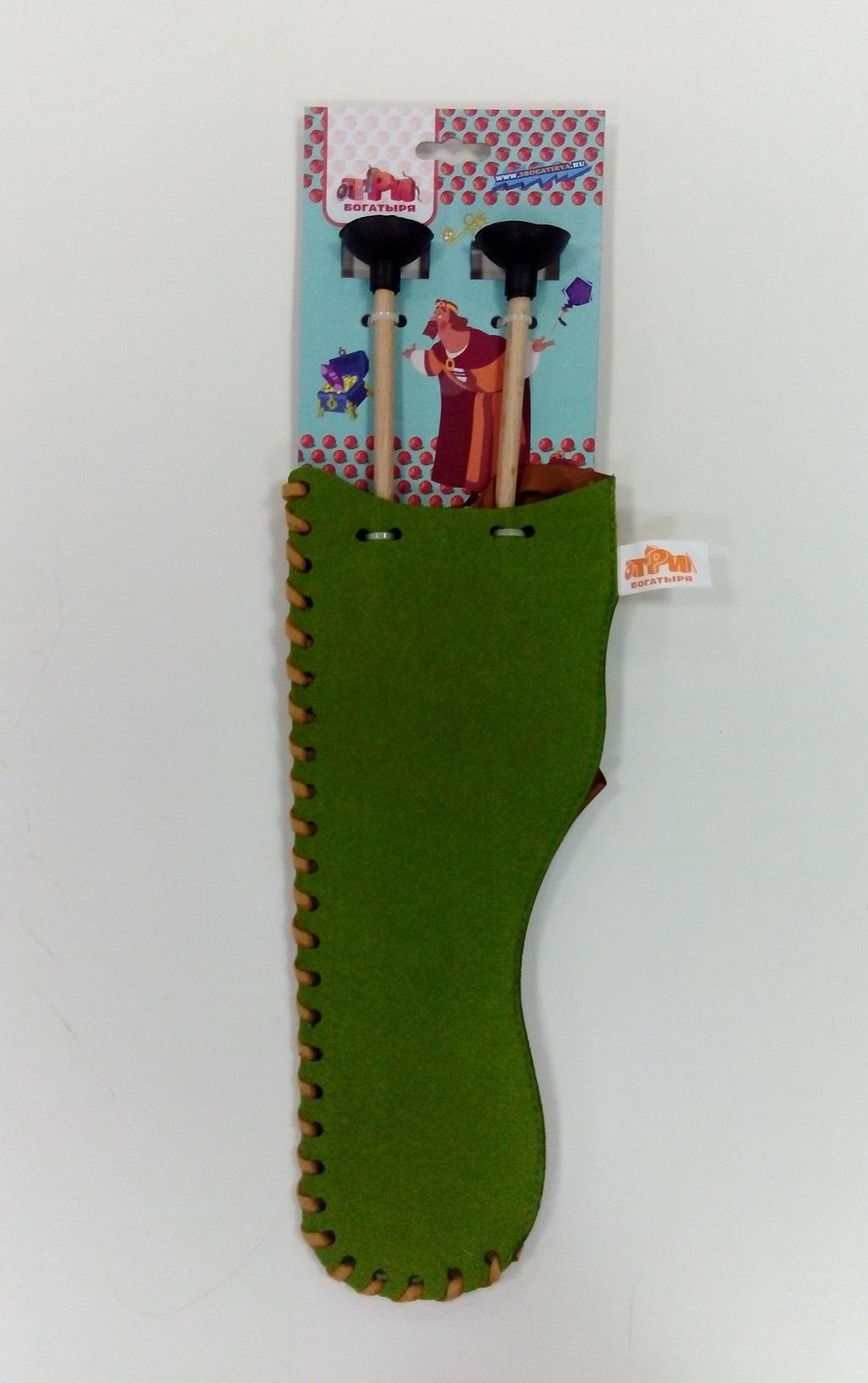 Купить Комплект - Колчан зеленый и 2 стрелы для лука, ЯиГрушка