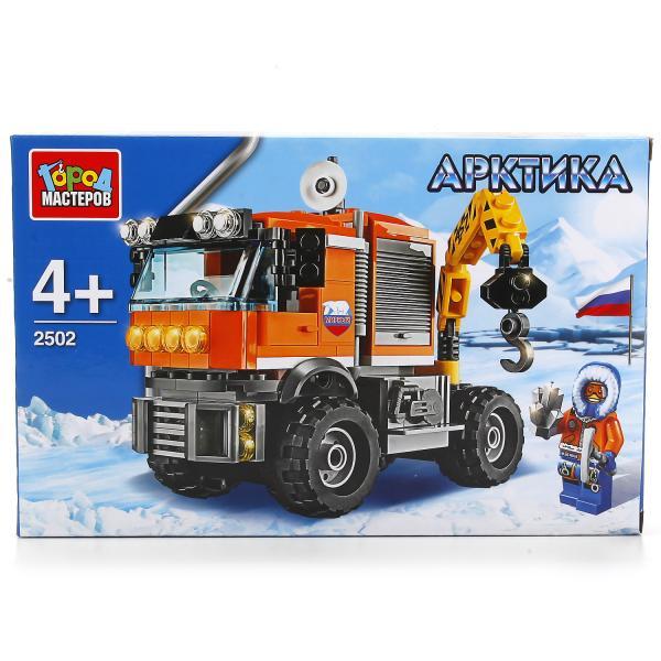 Конструктор Арктика: Вездеход-кран - 168 деталейГород мастеров<br>Конструктор Арктика: Вездеход-кран - 168 деталей<br>