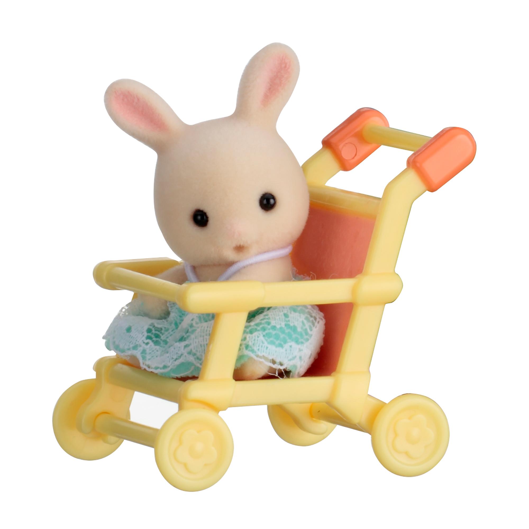 Купить Sylvanian Families. Младенец в пластиковом сундучке - Кролик в коляске, Epoch
