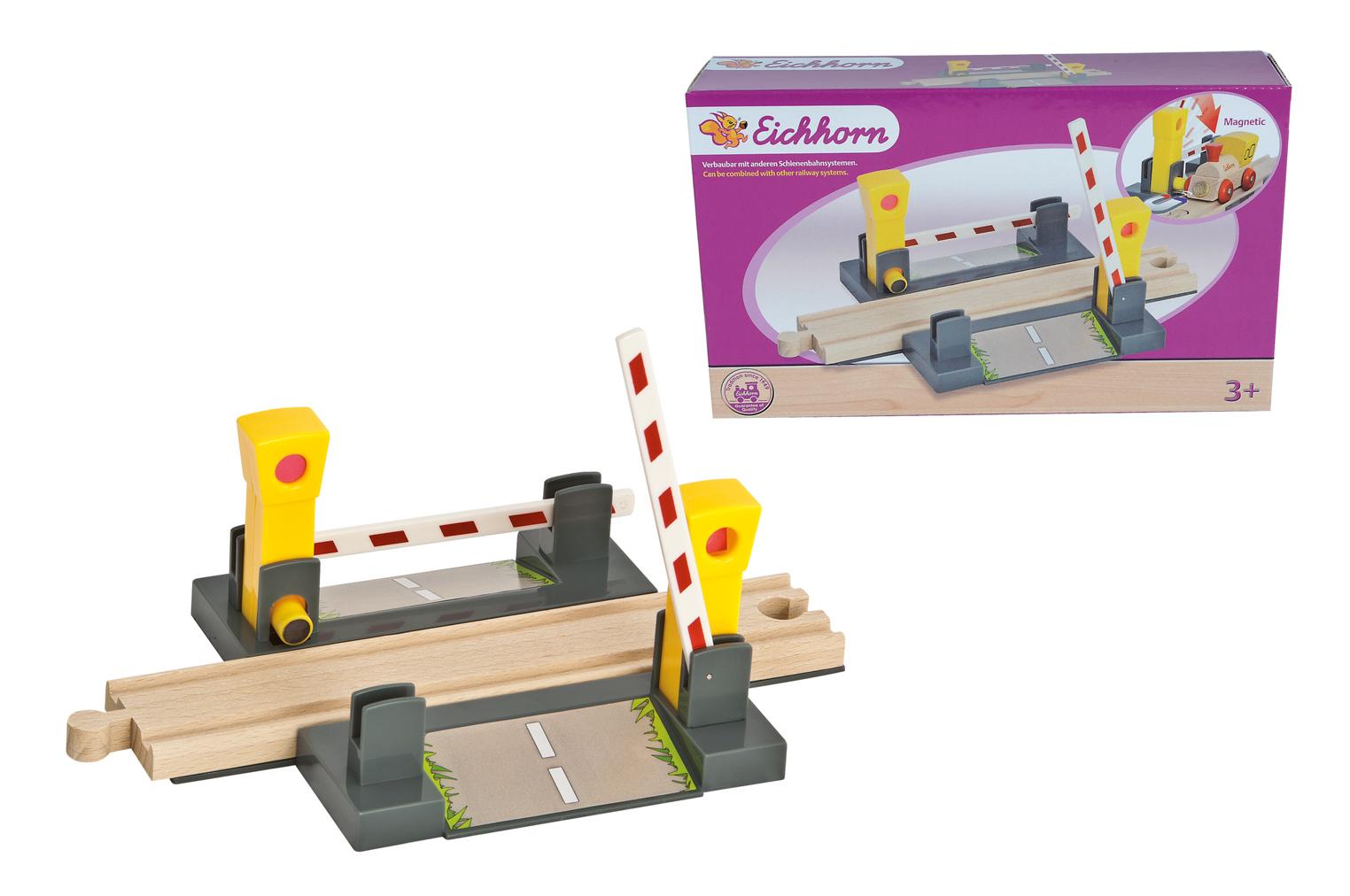 Железнодорожный переезд с магнитным шлагбаумомДетская железная дорога<br>Железнодорожный переезд с магнитным шлагбаумом<br>