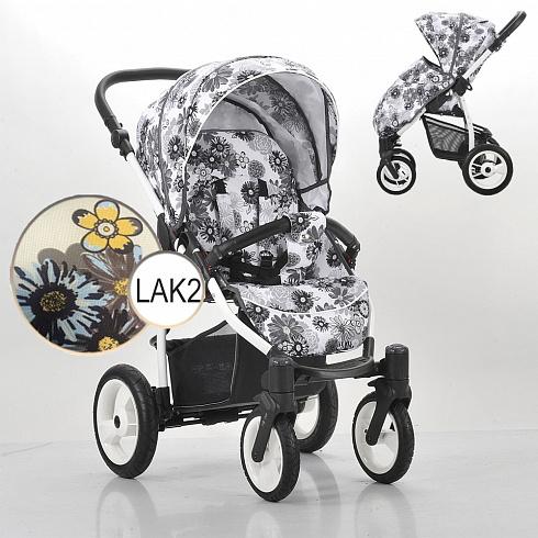 Детская прогулочная коляска – Rainbow, шасси белая/BIA LAK2Детские прогулочные коляски<br>Детская прогулочная коляска – Rainbow, шасси белая/BIA LAK2<br>