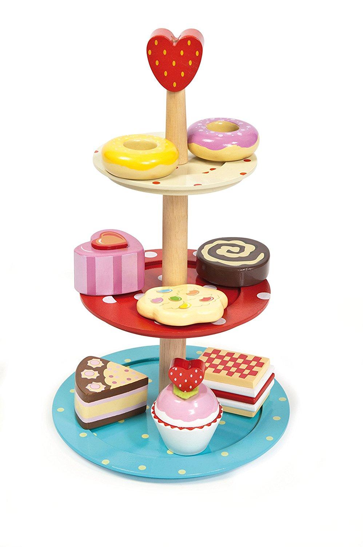 Еда игрушечная - Этажерка с пирожнымиАксессуары и техника для детской кухни<br>Еда игрушечная - Этажерка с пирожными<br>