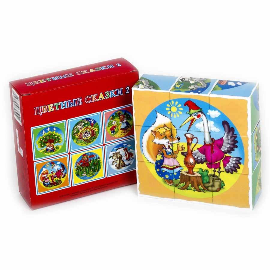 Кубики – Цветные сказки-2, 9 штукКубики<br>Кубики – Цветные сказки-2, 9 штук<br>