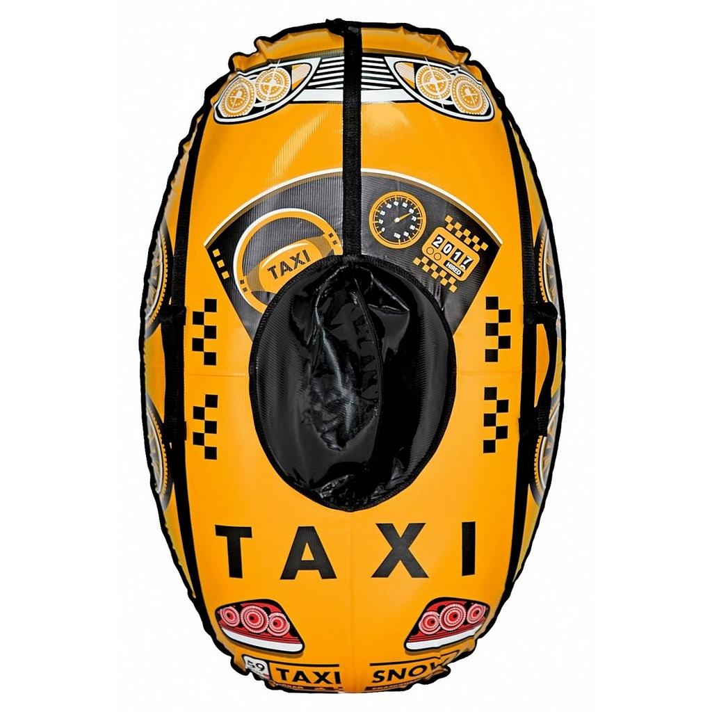 Санки надувные овальные ™Тяни-толкай - Машинка - Taxi Snow, желтая