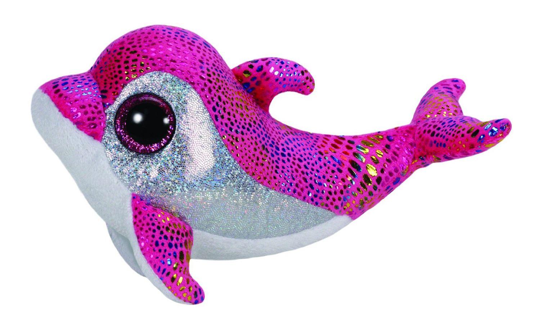 Купить Мягкая игрушка из серии Beanie Boo's Дельфин Sparkles розовый, 15, 24 см, TY