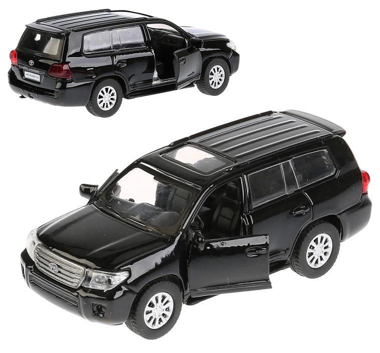 Купить Металлическая инерционная машина - Toyota Land Cruiser, 12, 5 см, черный, открываются двери, Технопарк