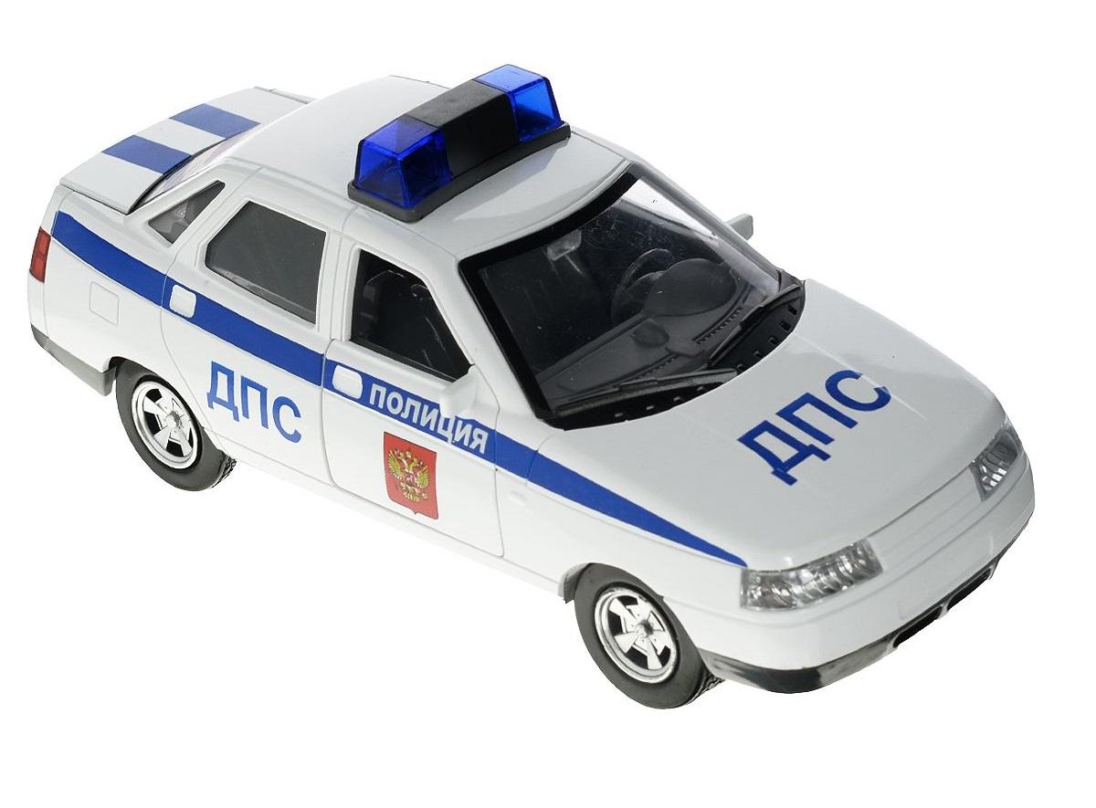Купить Инерционная машина LADA 110 - Полиция, свет, звук, 1:43, Технопарк