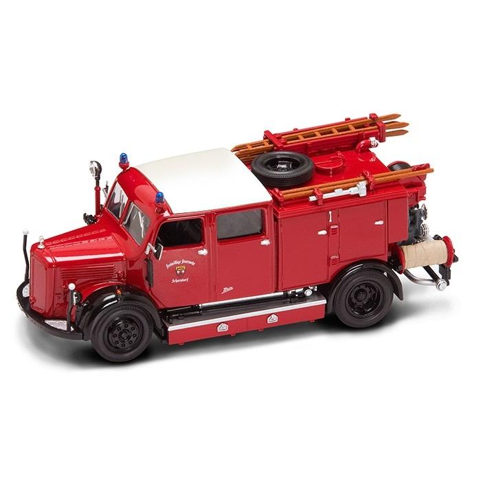 Купить Модель пожарного автомобиля Mercedes Benz TLF-50, образца 1950 года, масштаб 1/43, Yat Ming