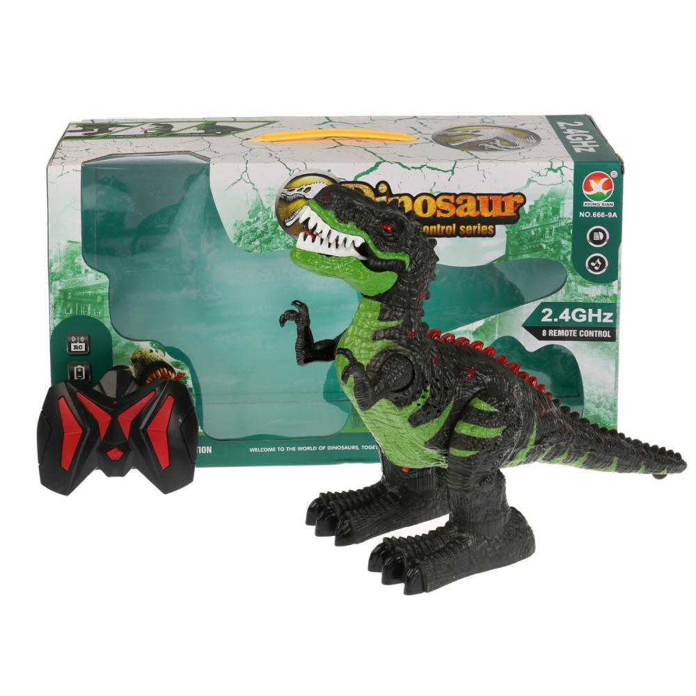 Купить Радиоуправляемая игрушка – Динозавр, на аккумуляторе, свет, звук, USB з/у
