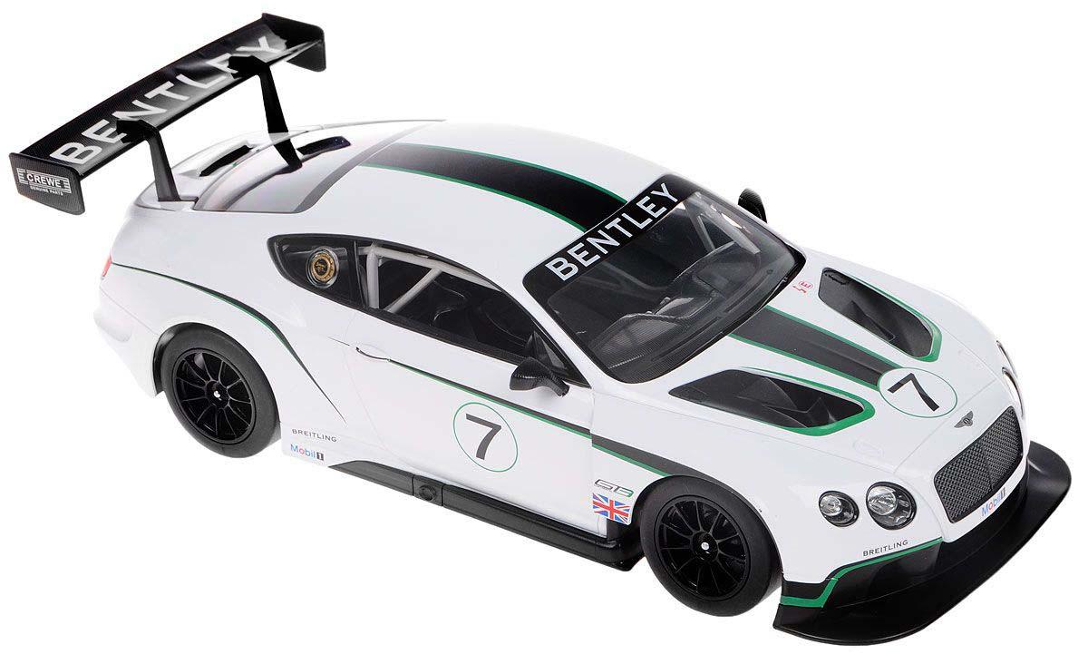 Купить Машина на р/у - Bentley Continental GT3, белый, 1:14, свет, Rastar