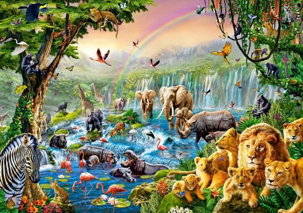 Пазл Castorland 500 деталей Река в джунгляхПазлы<br>Пазл Castorland 500 деталей Река в джунглях<br>