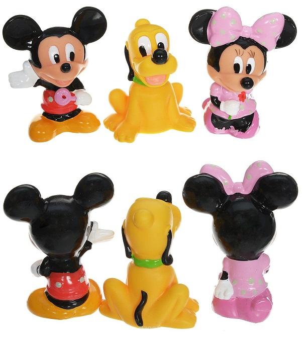 Брызгалки Микки Маус, 3 фигуркиРезиновые игрушки<br>Брызгалки Микки Маус, 3 фигурки<br>