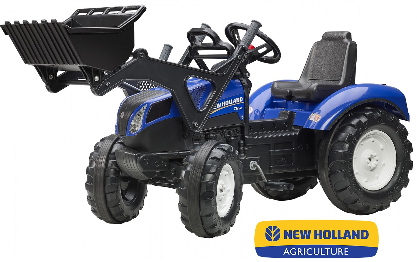 Трактор-экскаватор педальный, синий 134 см