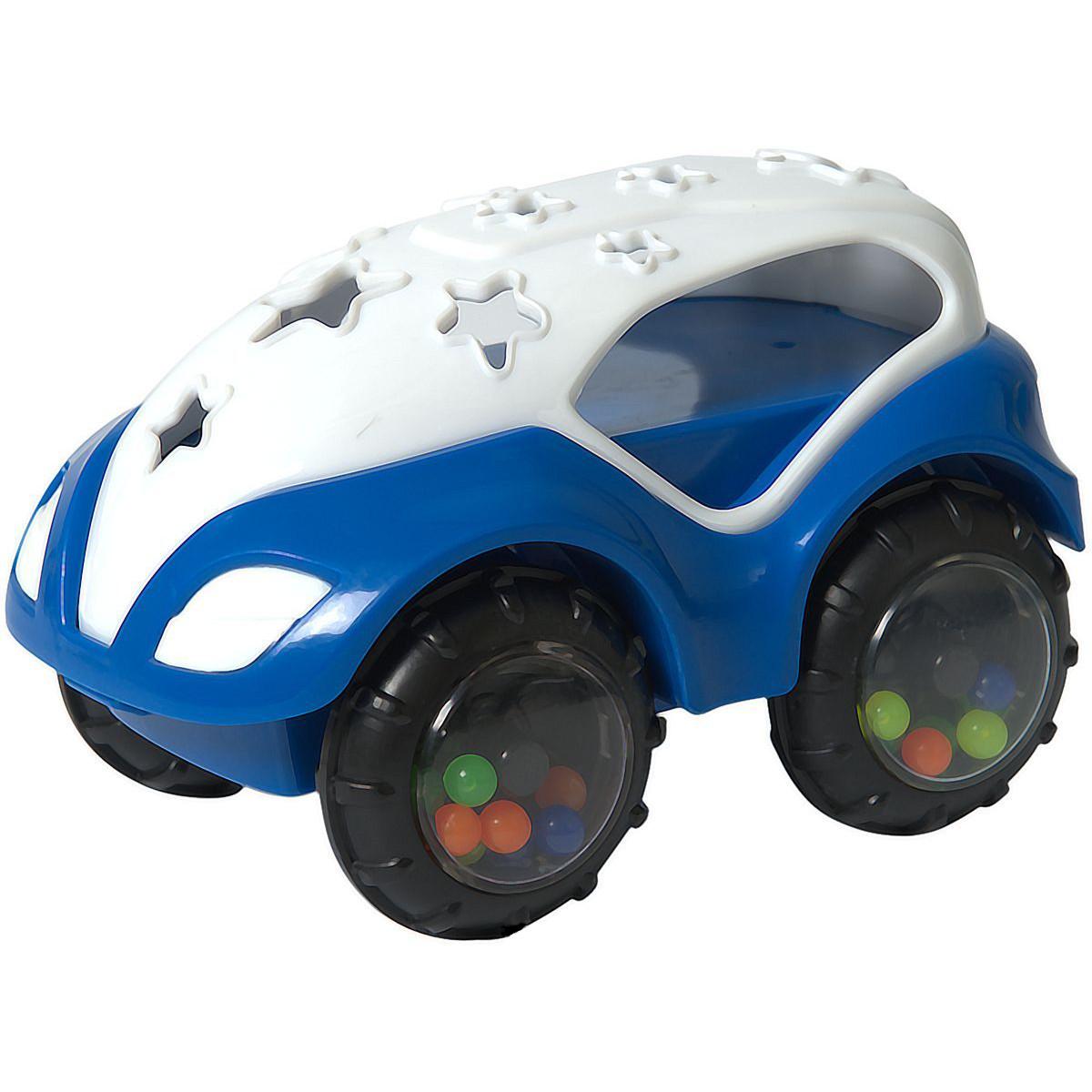 Машинка-неразбивайка, бело-синяяМашинки для малышей<br>Машинка-неразбивайка, бело-синяя<br>