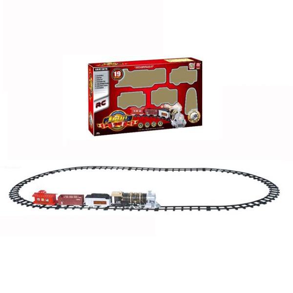 Радиоуправляемая железная дорога с дымом, светом и звуком, 19 деталей (Shantou, B1136587simДетская железная дорога<br>Радиоуправляемая железная дорога с дымом, светом и звуком, 19 деталей (Shantou, B1136587sim<br>
