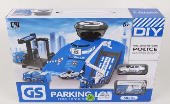 Купить Игровой набор – Гараж: полицейская станция с машинками CM559-32D