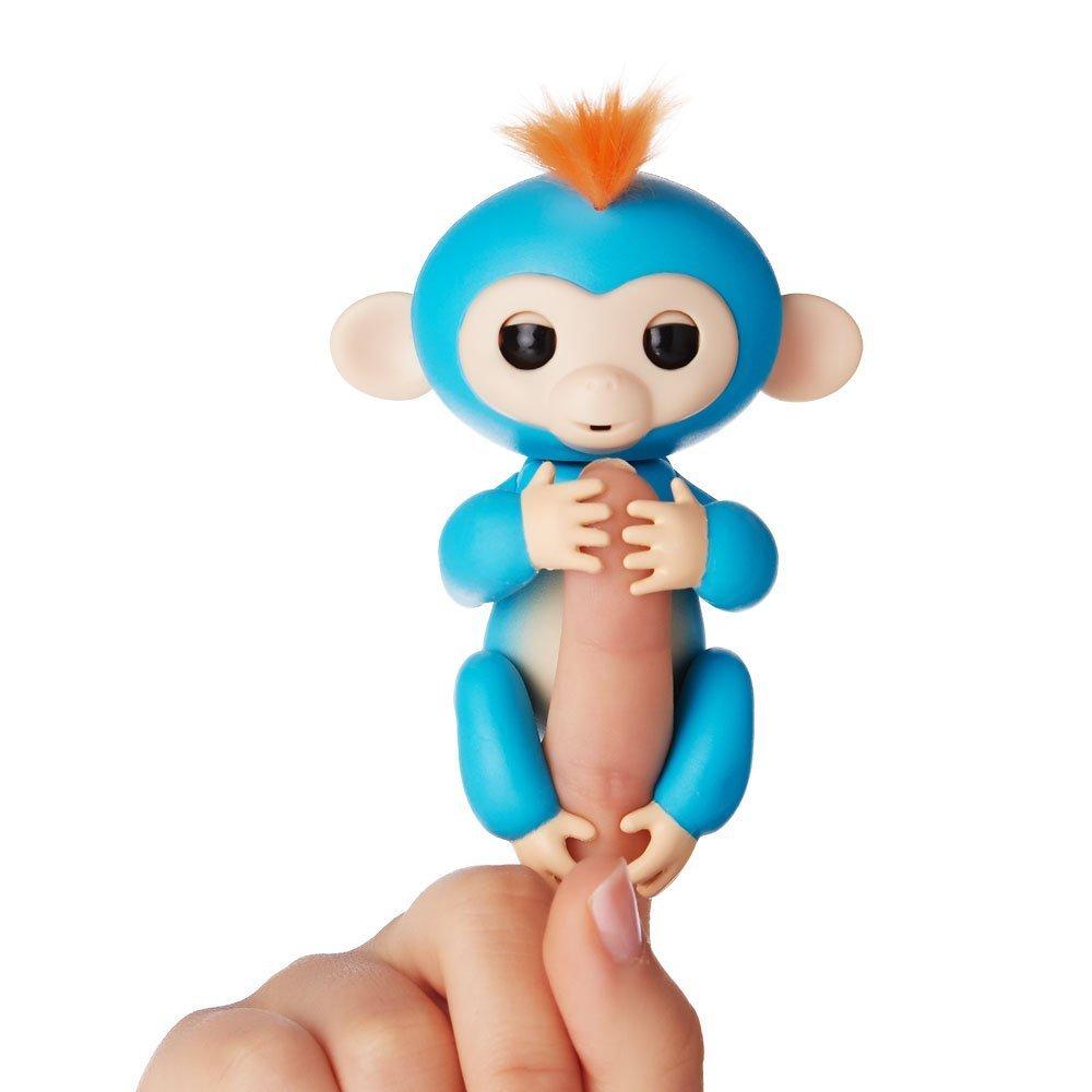 Купить Интерактивная ручная обезьянка Fingerlings WowWee – Борис, синяя, 12 см