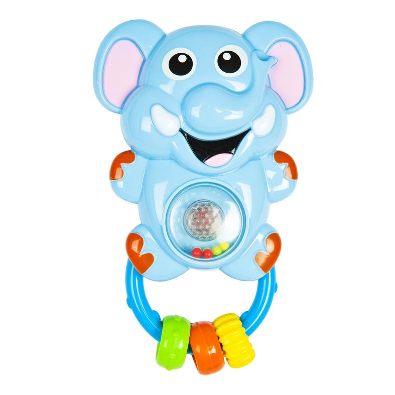 Игрушка-погремушка – Слоник, свет и звукДетские погремушки и подвесные игрушки на кроватку<br>Игрушка-погремушка – Слоник, свет и звук<br>