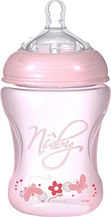 Бутылочка  с антиколиковой системой, 240 мл, розоваяБутылочки<br>Бутылочка  с антиколиковой системой, 240 мл, розовая<br>