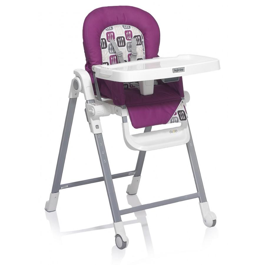 Стул для кормления – Gusto, фиолетовый/белыйСтульчики для кормления<br>Стул для кормления – Gusto, фиолетовый/белый<br>